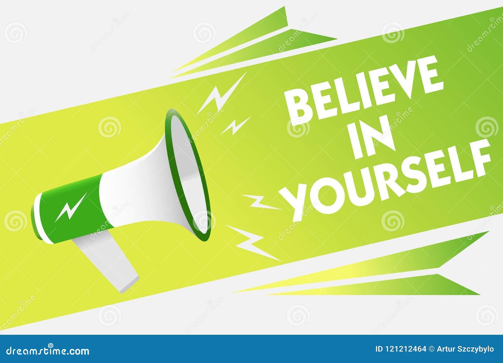 词文字文本相信你自己 鼓励的某人企业概念自信刺激警告行情的消息s