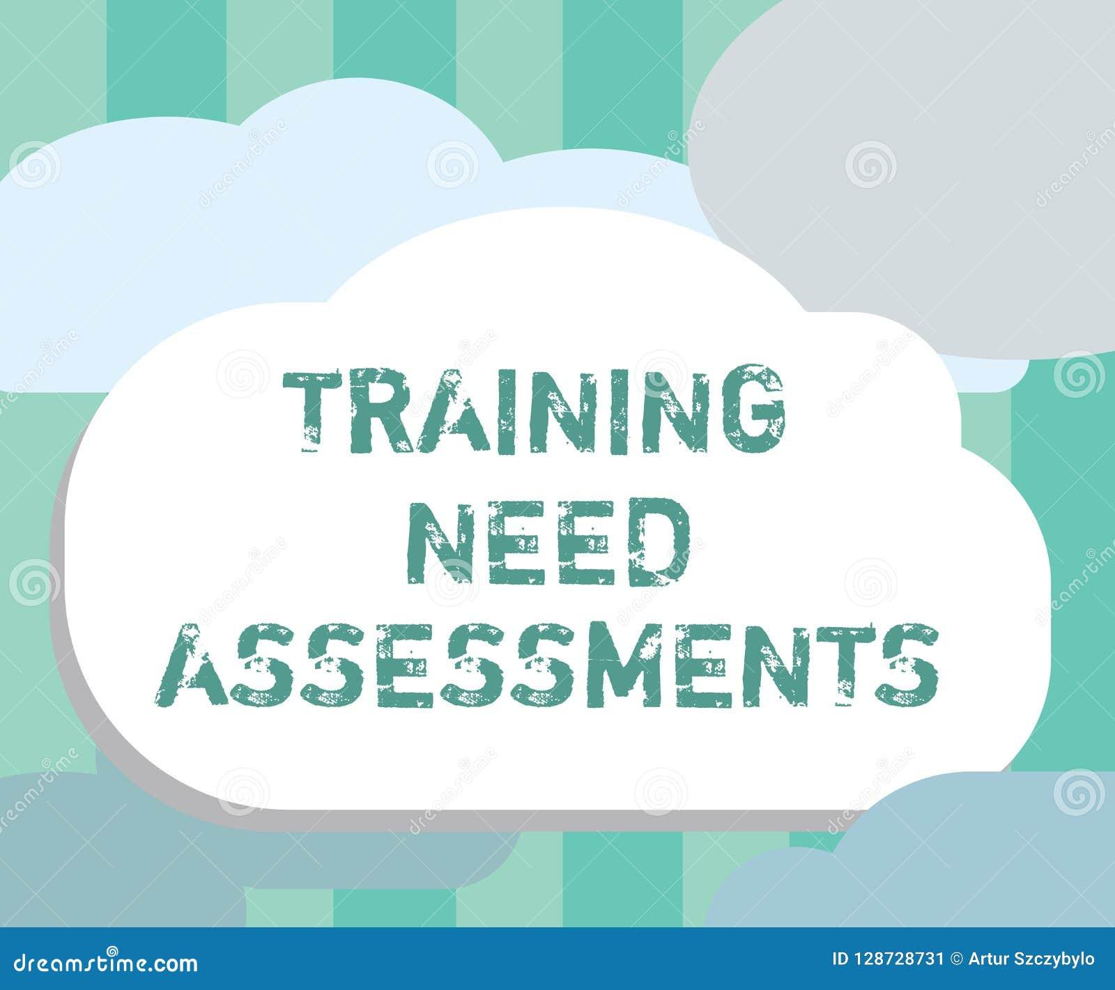 词文字文本训练需要评估 企业概念为确定锻炼要求填补空白