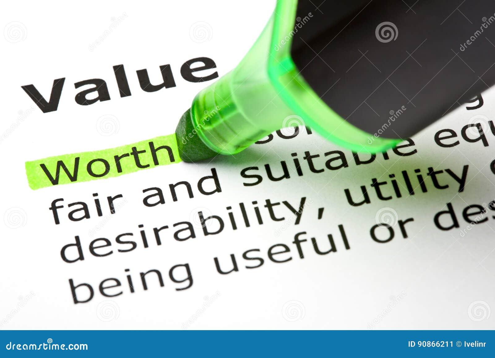词价值的定义