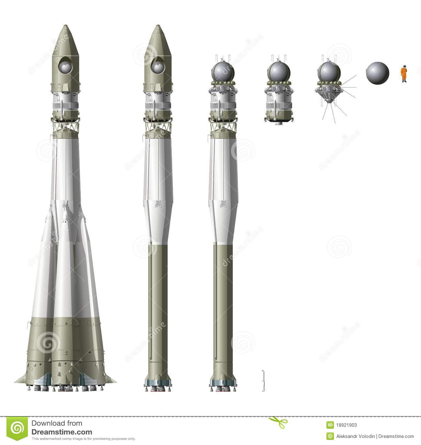 详细第一艘喂火箭空间太空飞船