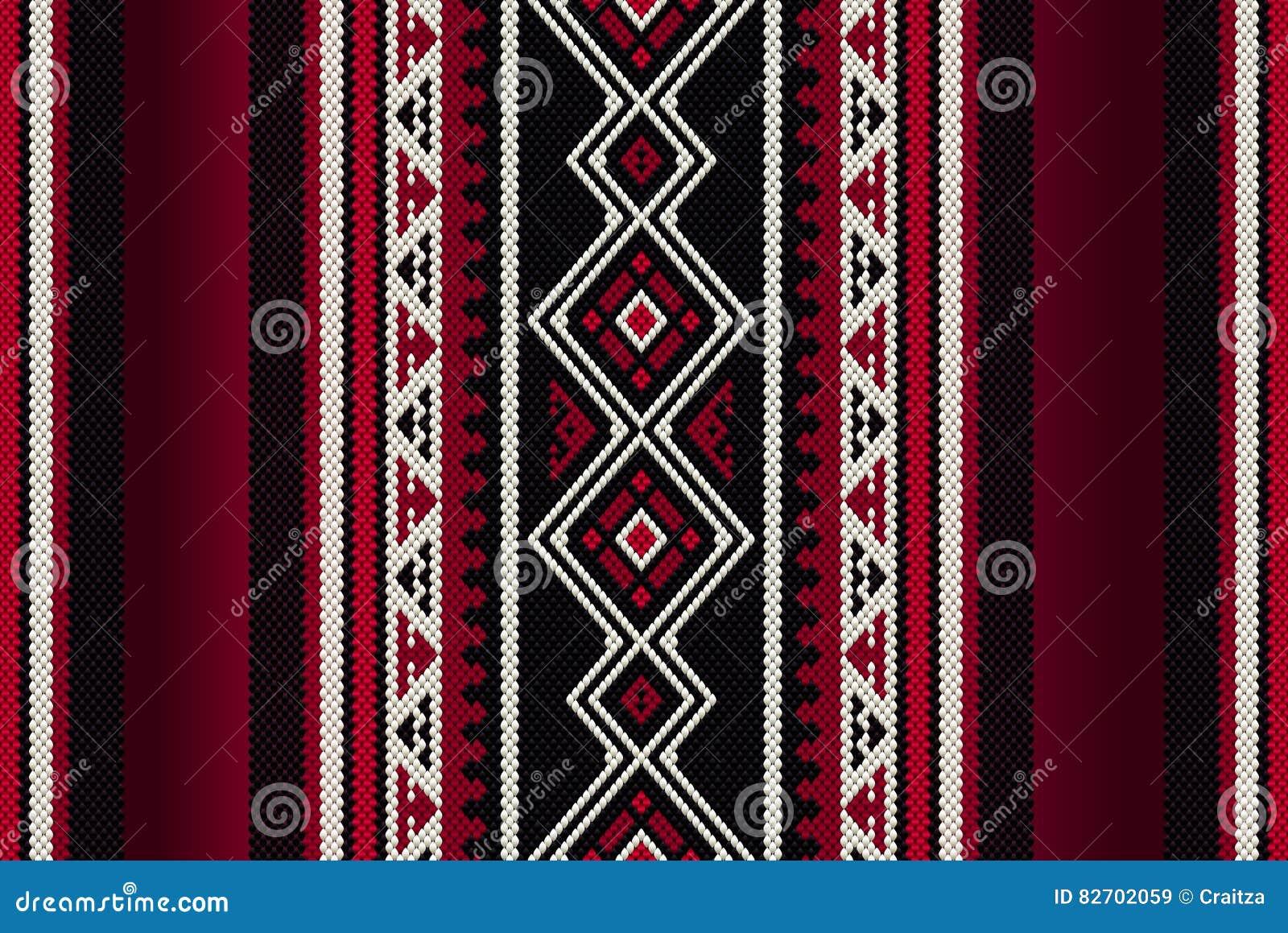 详细的红色传统伙计Sadu阿拉伯手编织的样式
