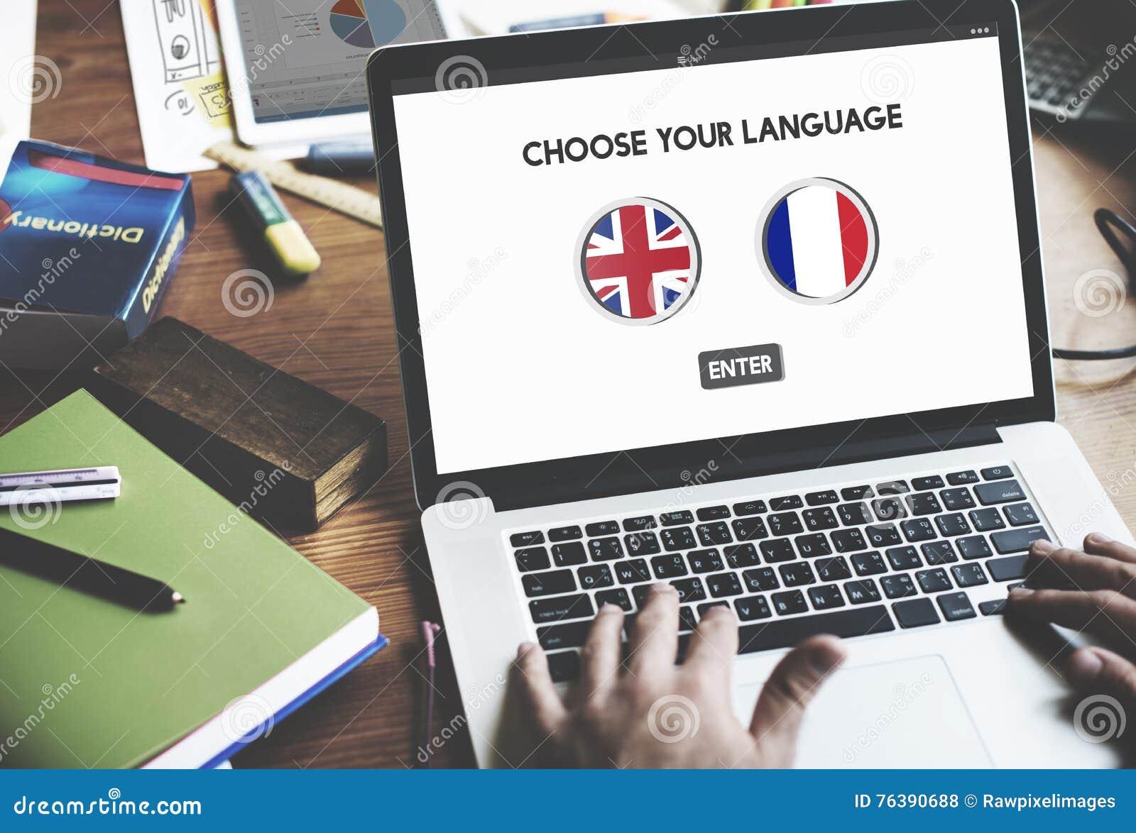 语言词典英语-法语概念