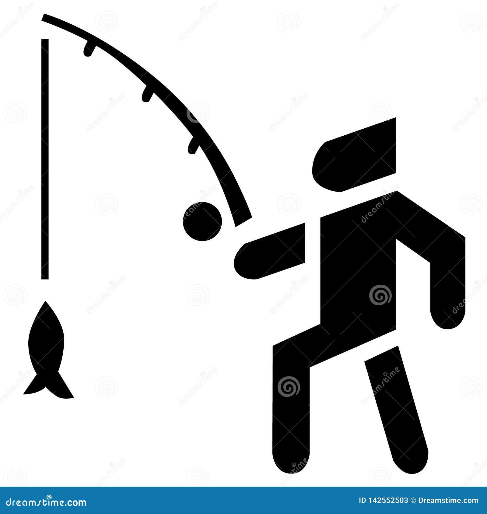 渔夫活动背景 诱饵、浮子和鱼在传染媒介象