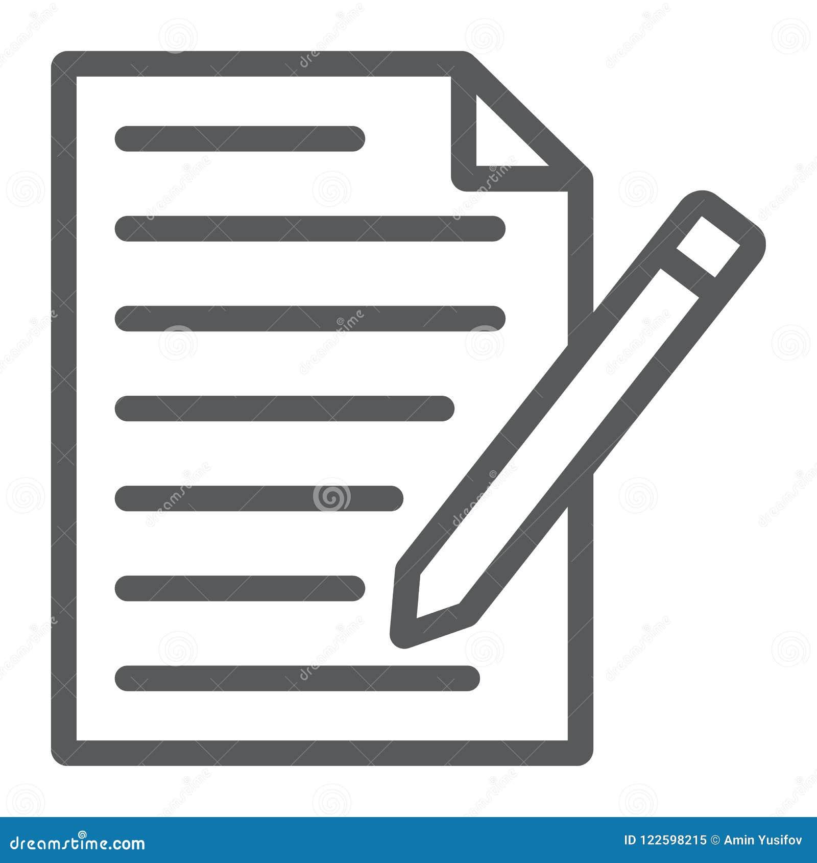 请与形式线象,纸和笔,空白的标志联系