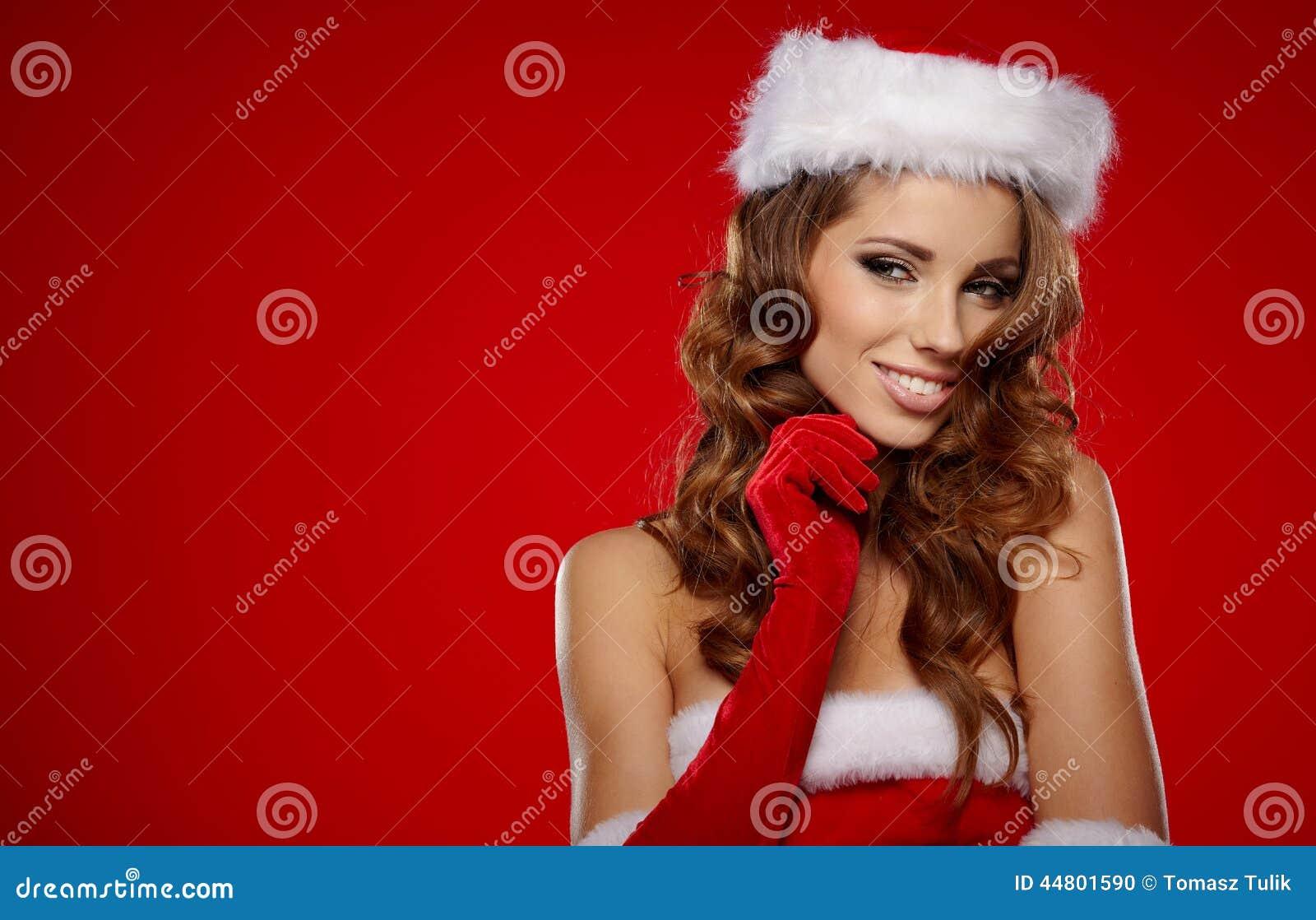 请求圣诞老人妇女
