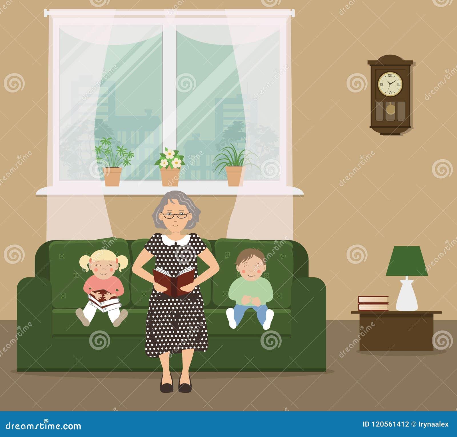 读书的祖母对孩子