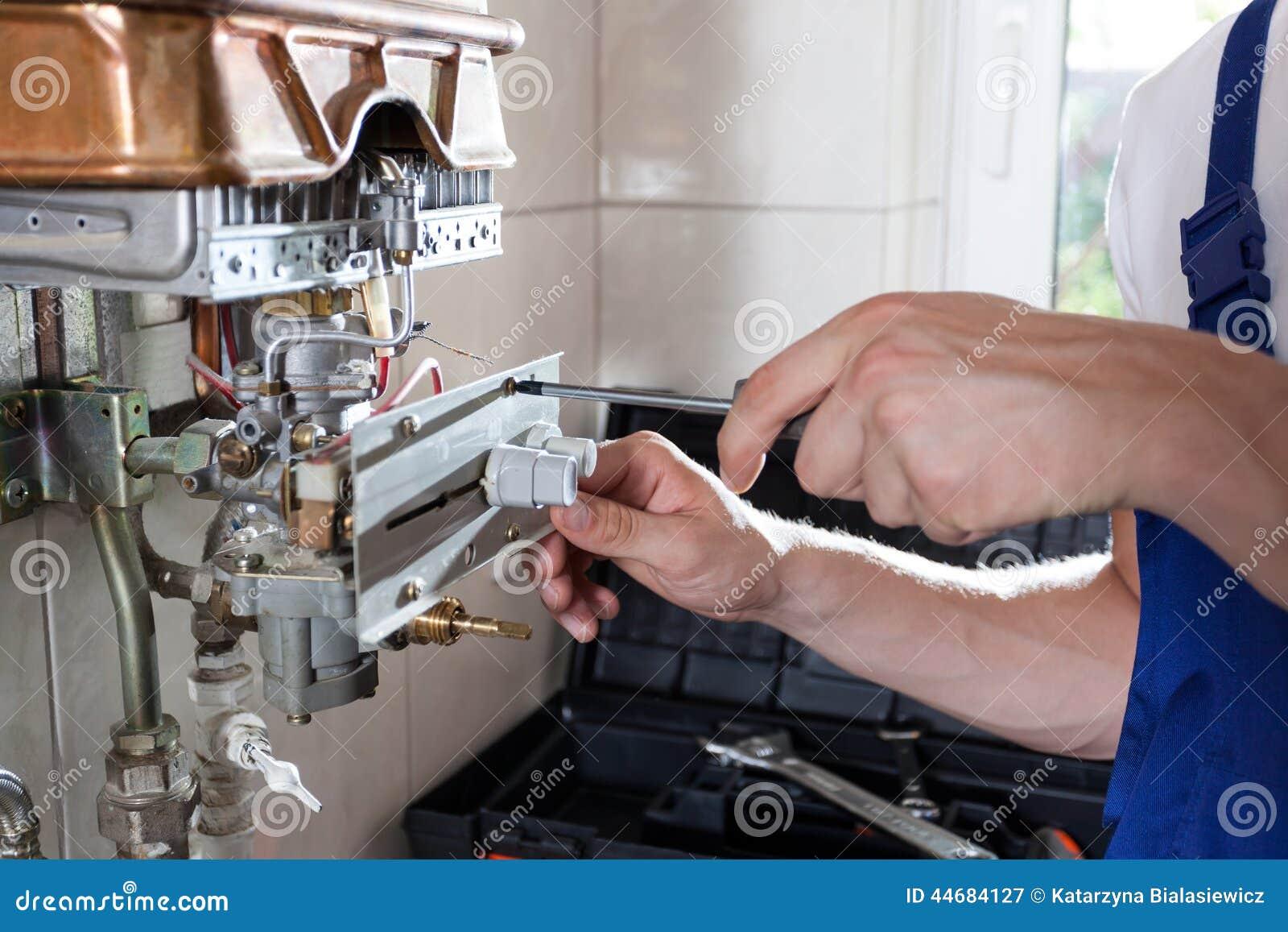 调整气体水加热器的杂物工