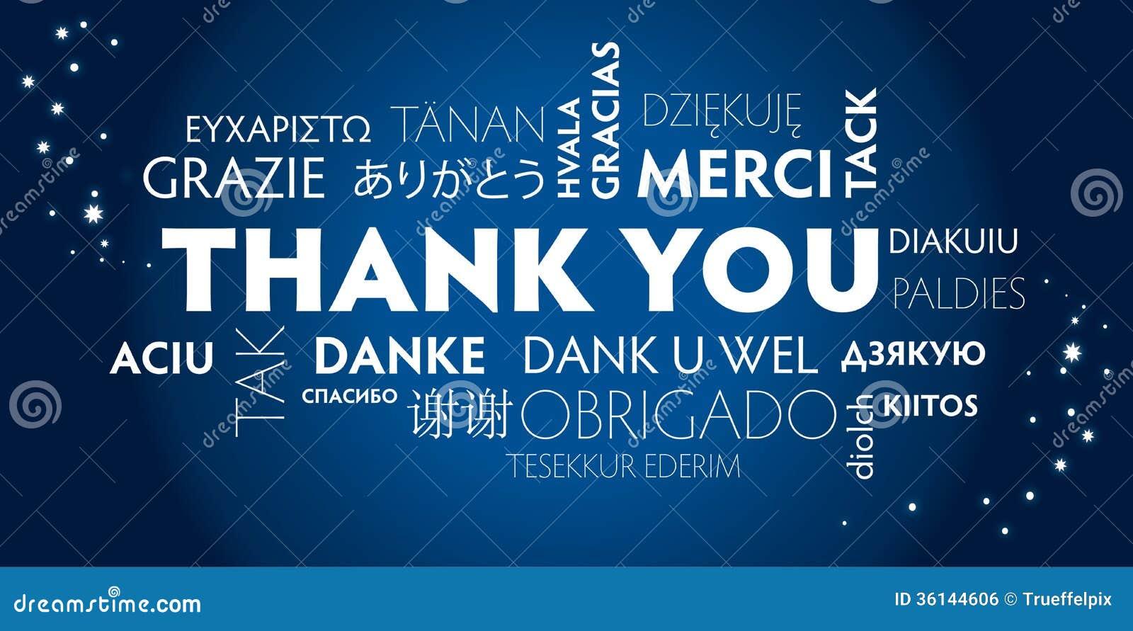 谢谢多语种,蓝色