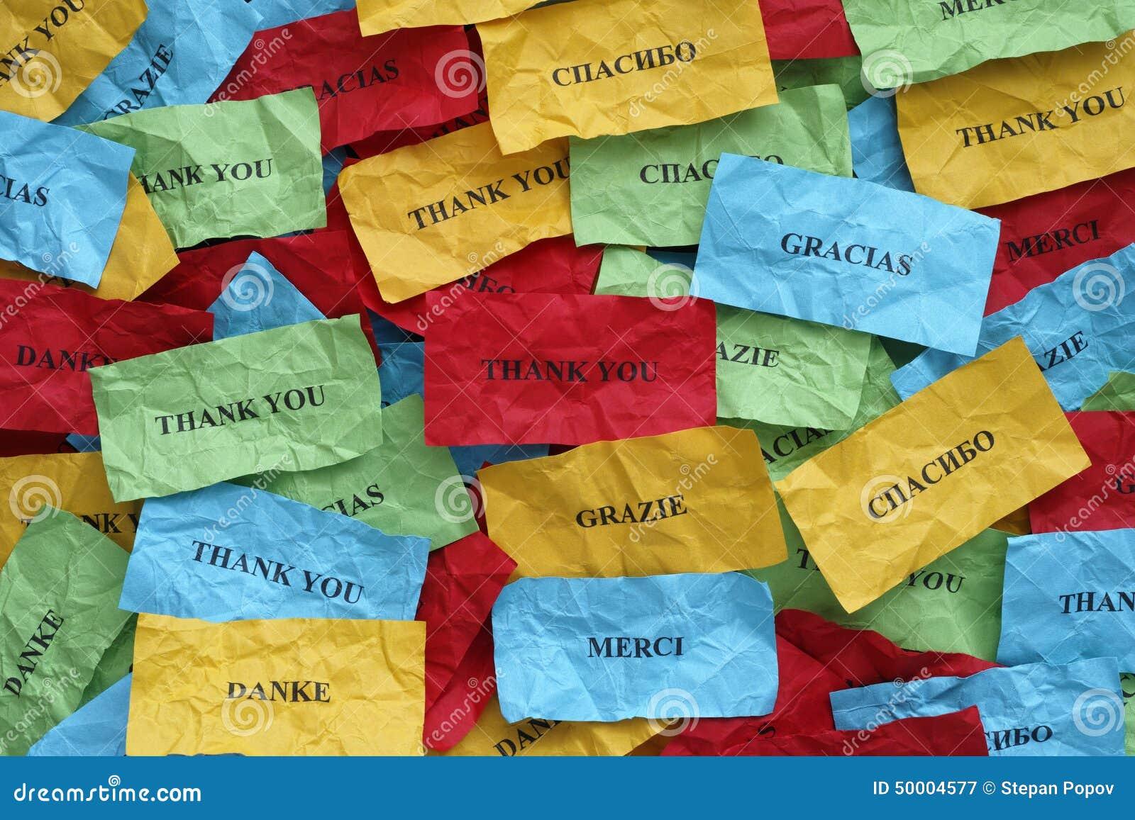 谢谢许多语言的图片