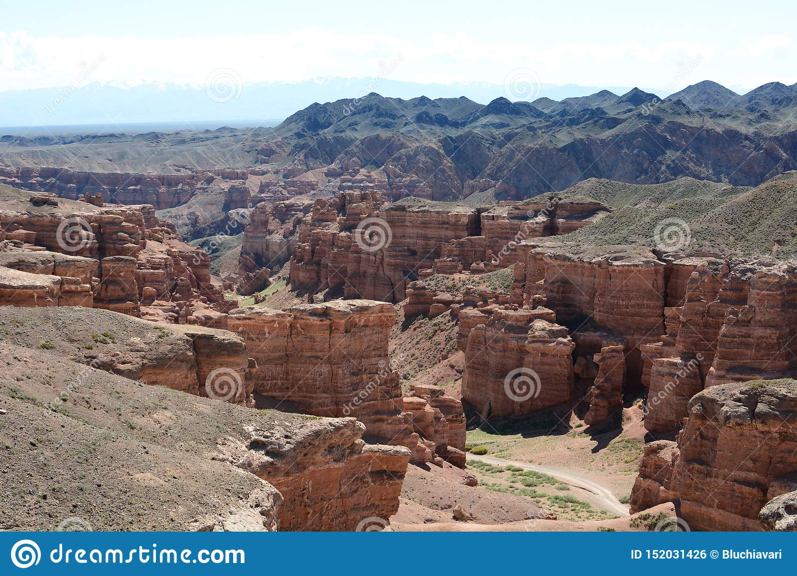 谷城堡,Charyn峡谷的看法 Charyn国立公园 阿尔玛蒂地区 r