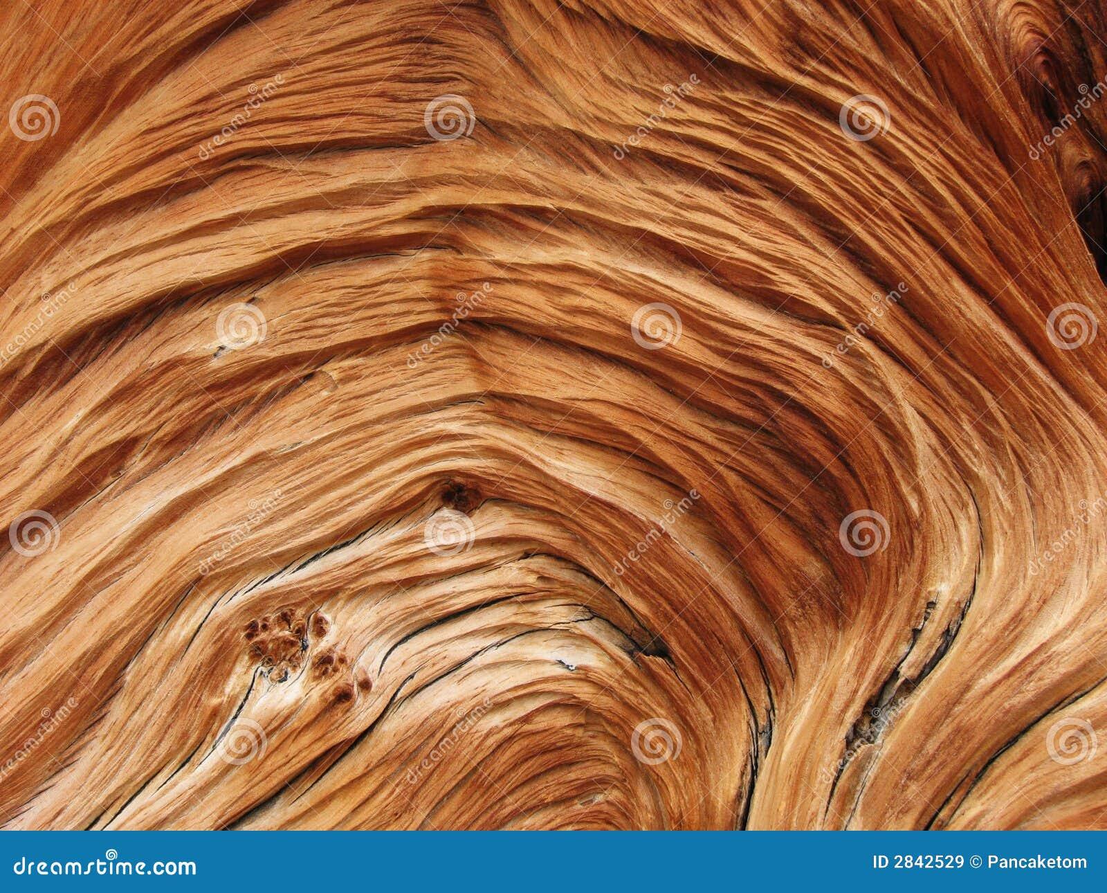 谷物扭转的木头