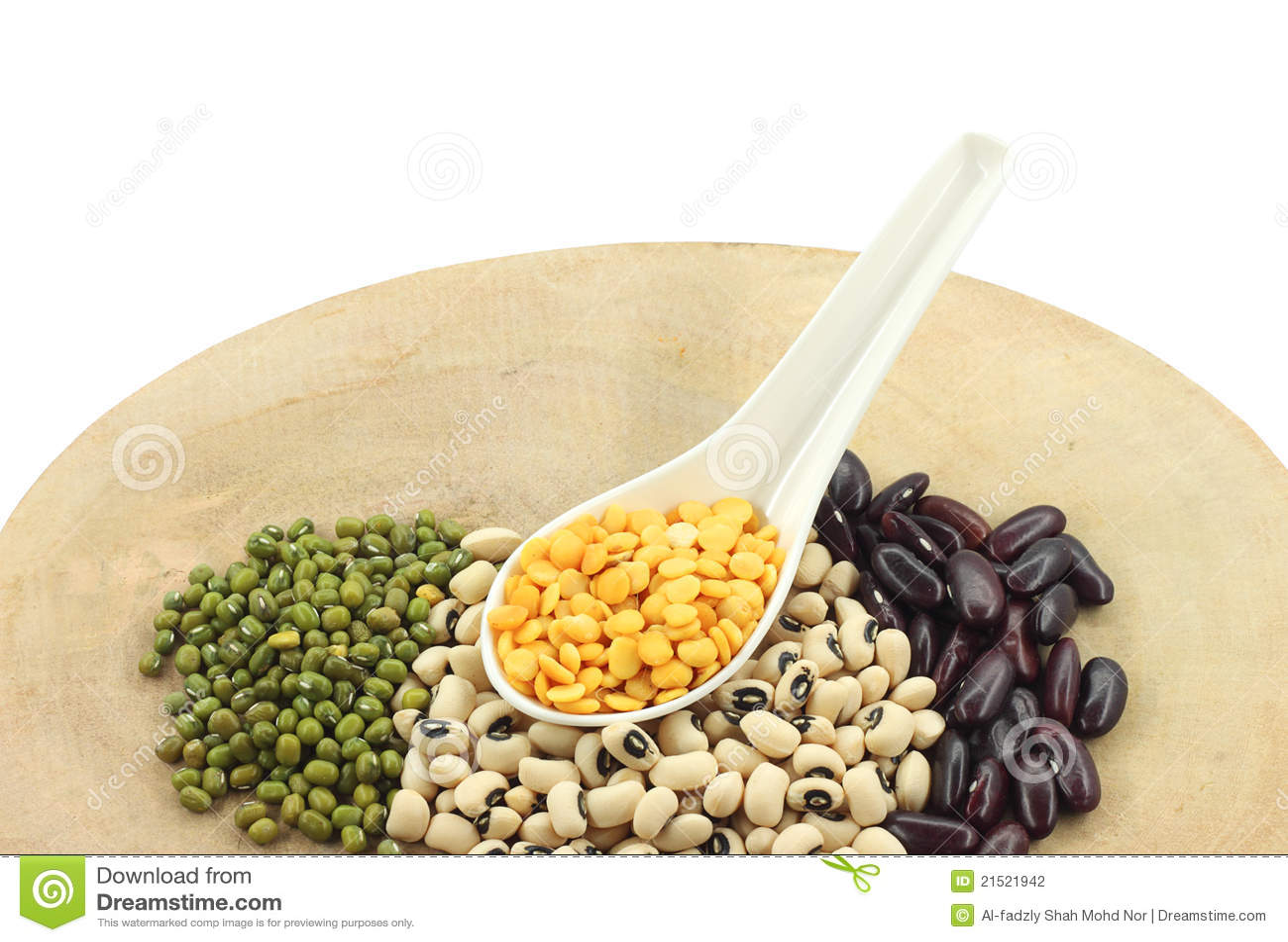 豆类捞出多种白色