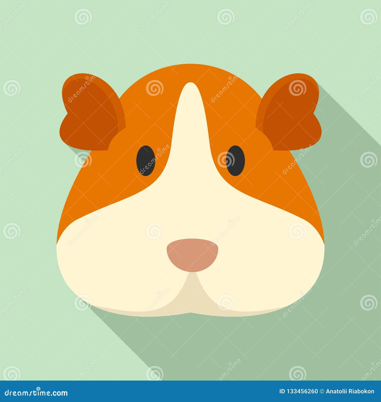 豚鼠面孔象,平的样式