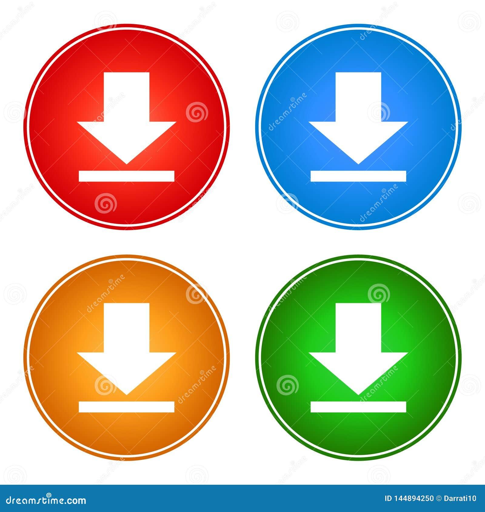 象下载按钮传染媒介网颜色