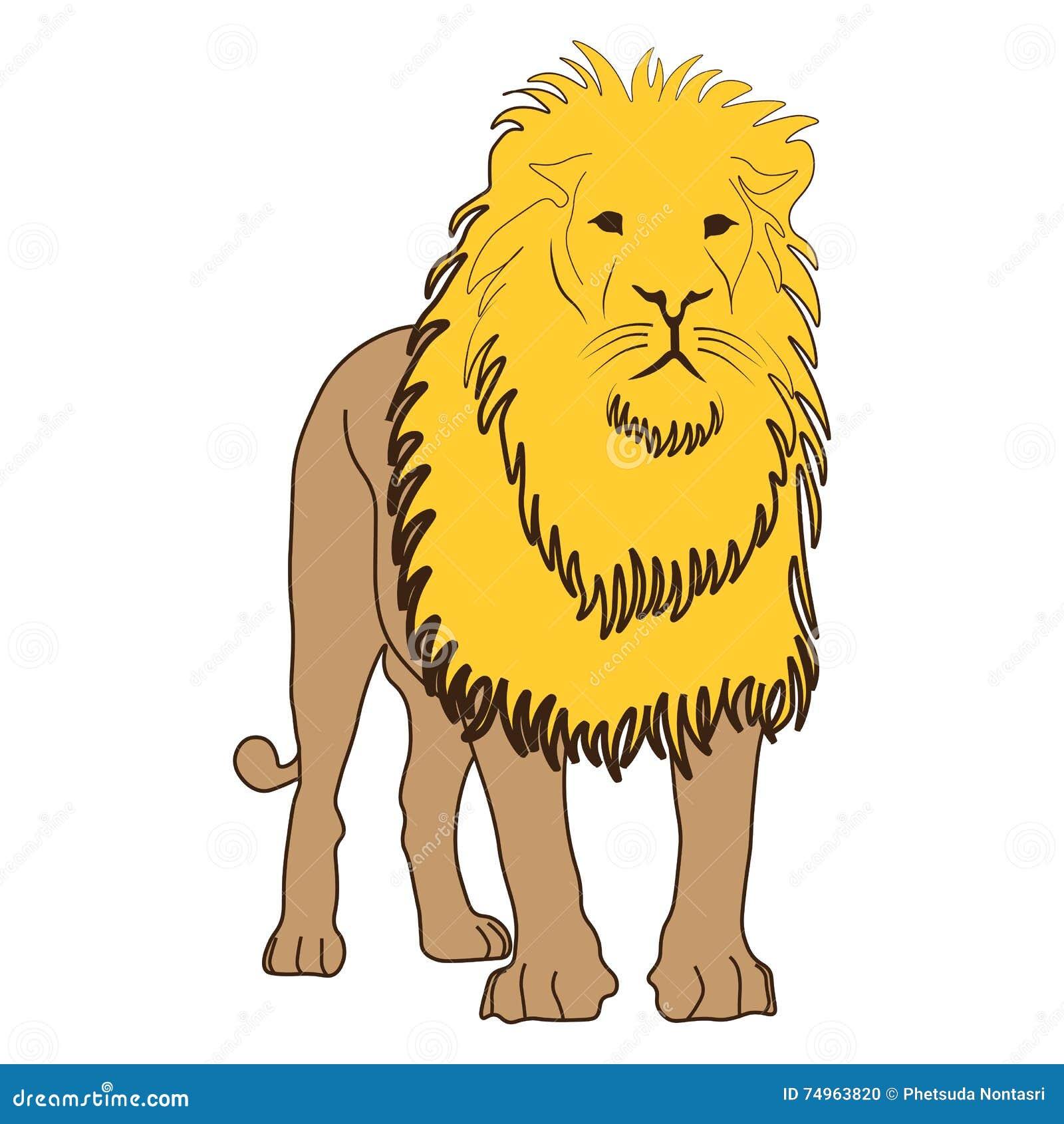 象动画片设计例证动物狮子