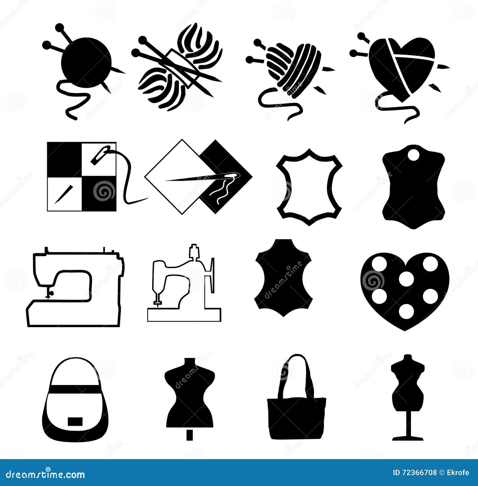 象被设置关于缝合和编织