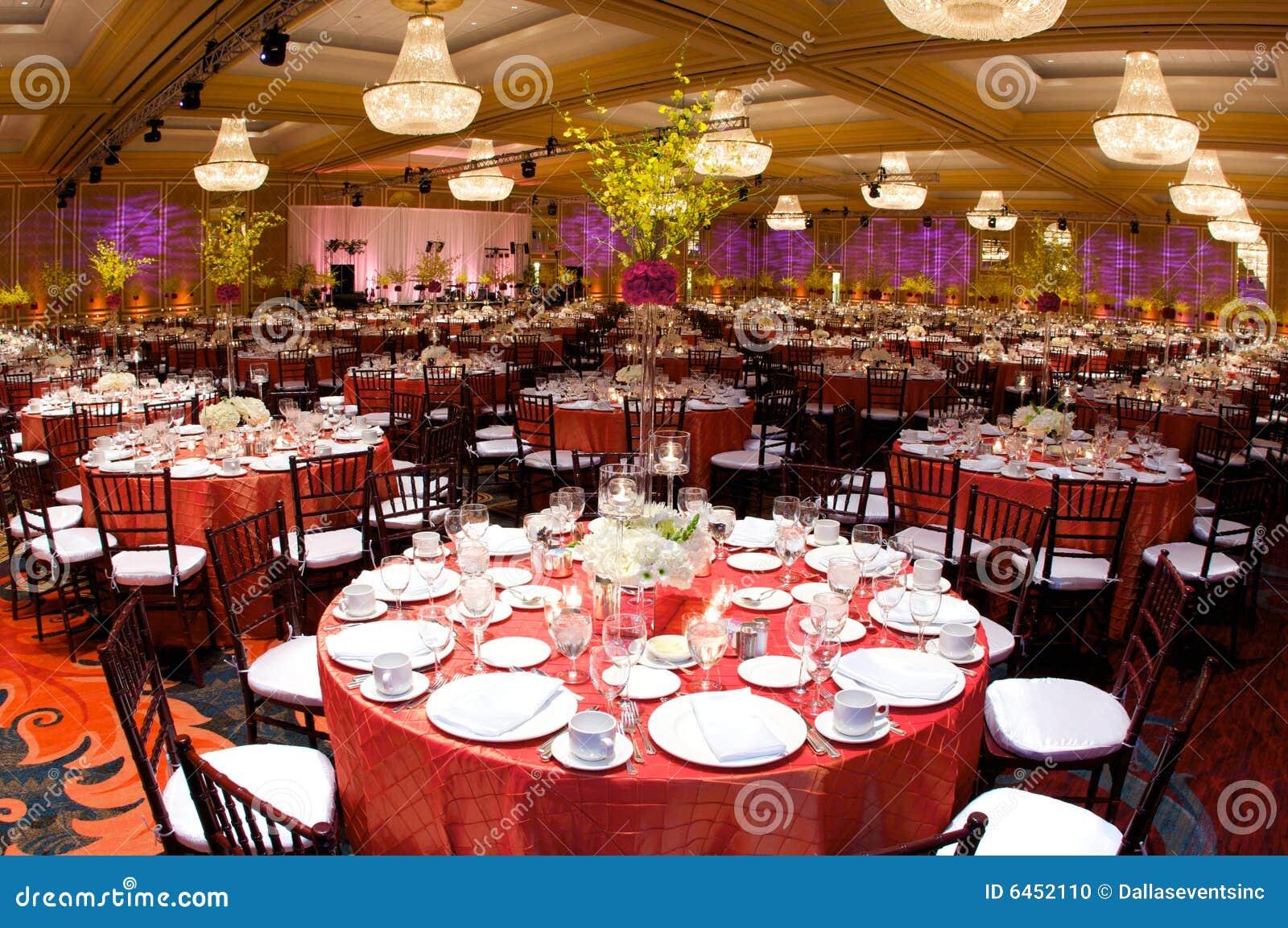 豪华接收设置表婚礼