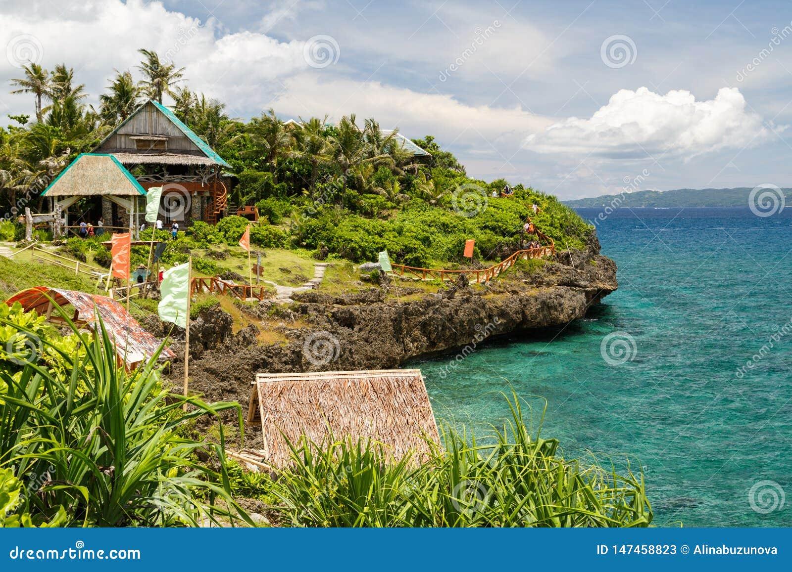 豪华旅行游轮假期目的地博拉凯海岛鸟瞰图