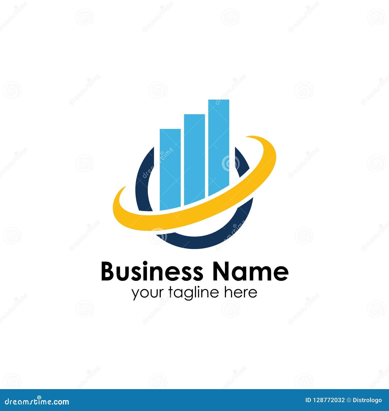 财务商标模板 会计商标模板 绘制象图表
