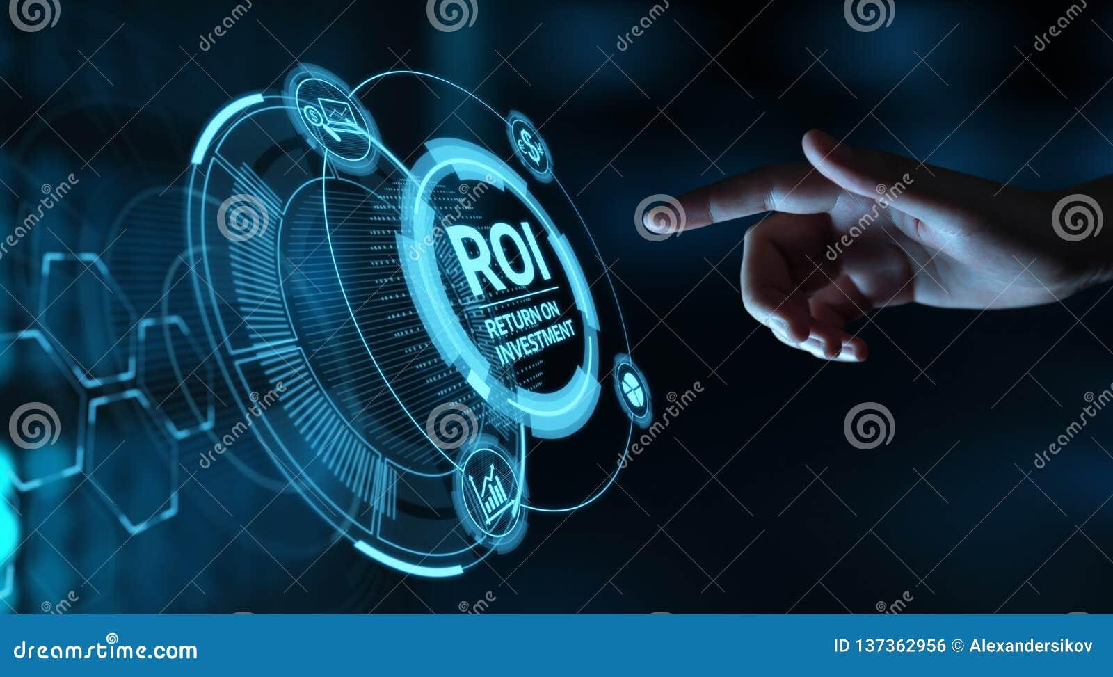财务赢利成功互联网企业技术概念的ROI回收投资