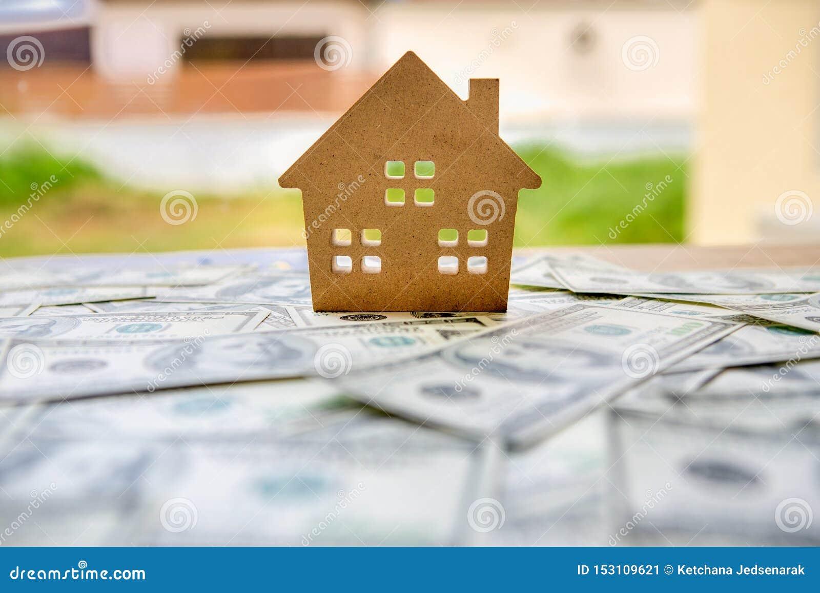 财政与不动产事务的投资概念成长的能谋取赢利和住宅与被安置的房子模型