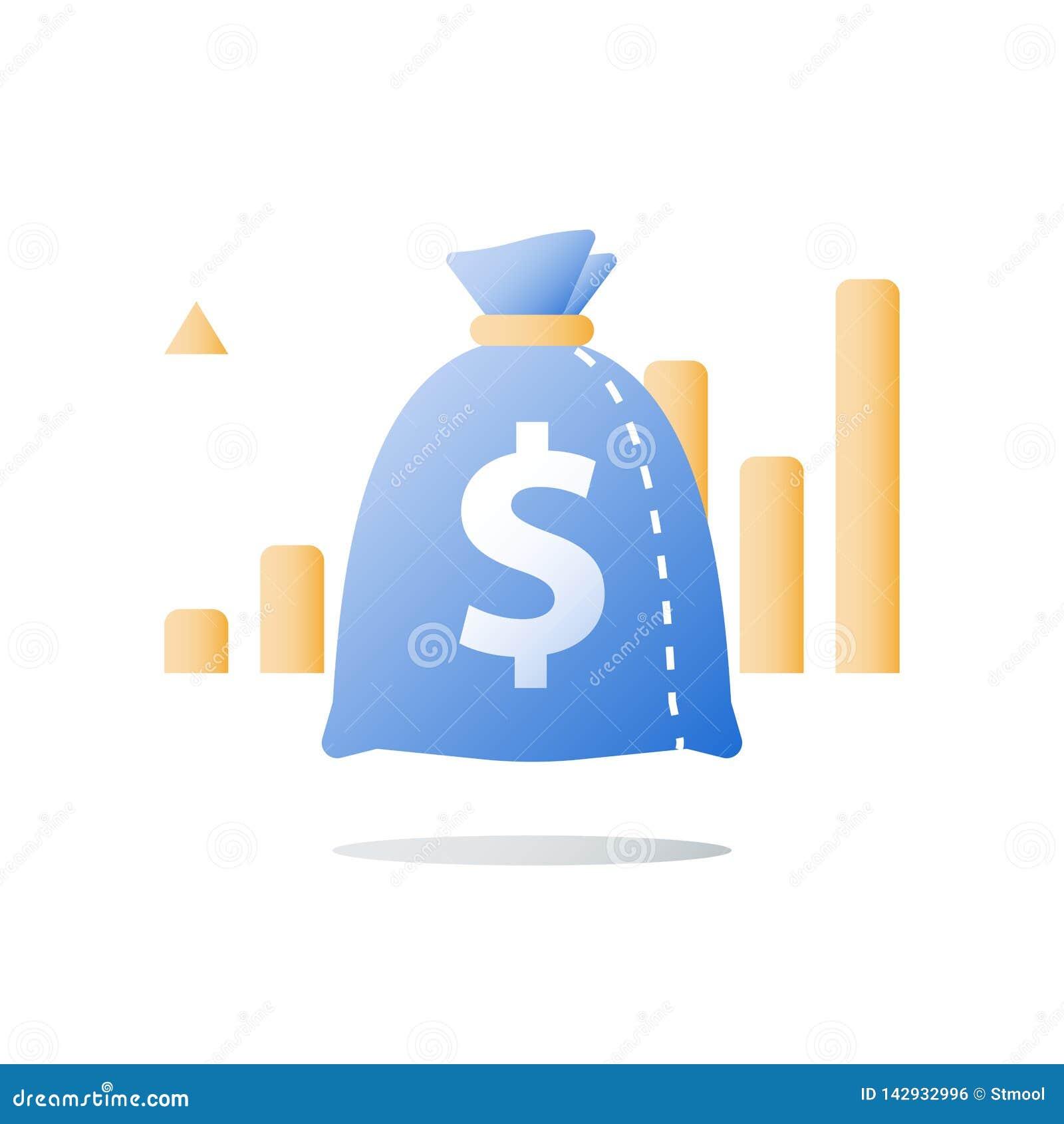 财政业绩报告,高利息率,倍增资本,未来收入,正面趋向,登高的图表