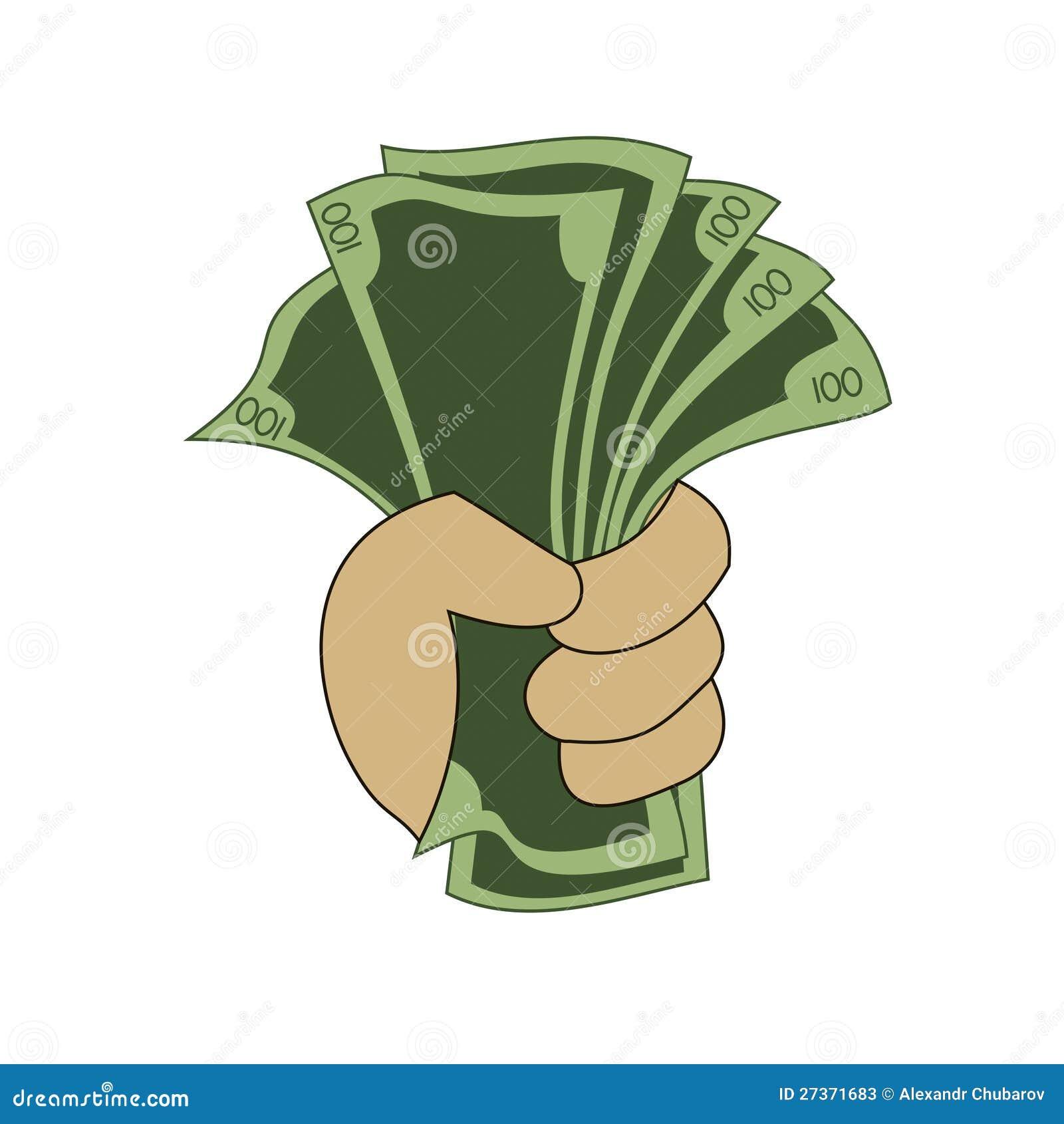 货币在手中