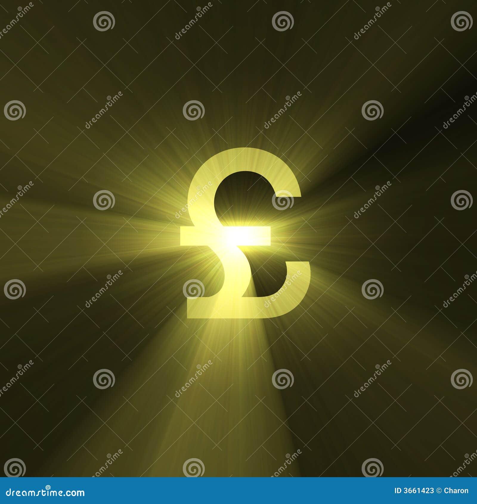 货币火光光镑符号