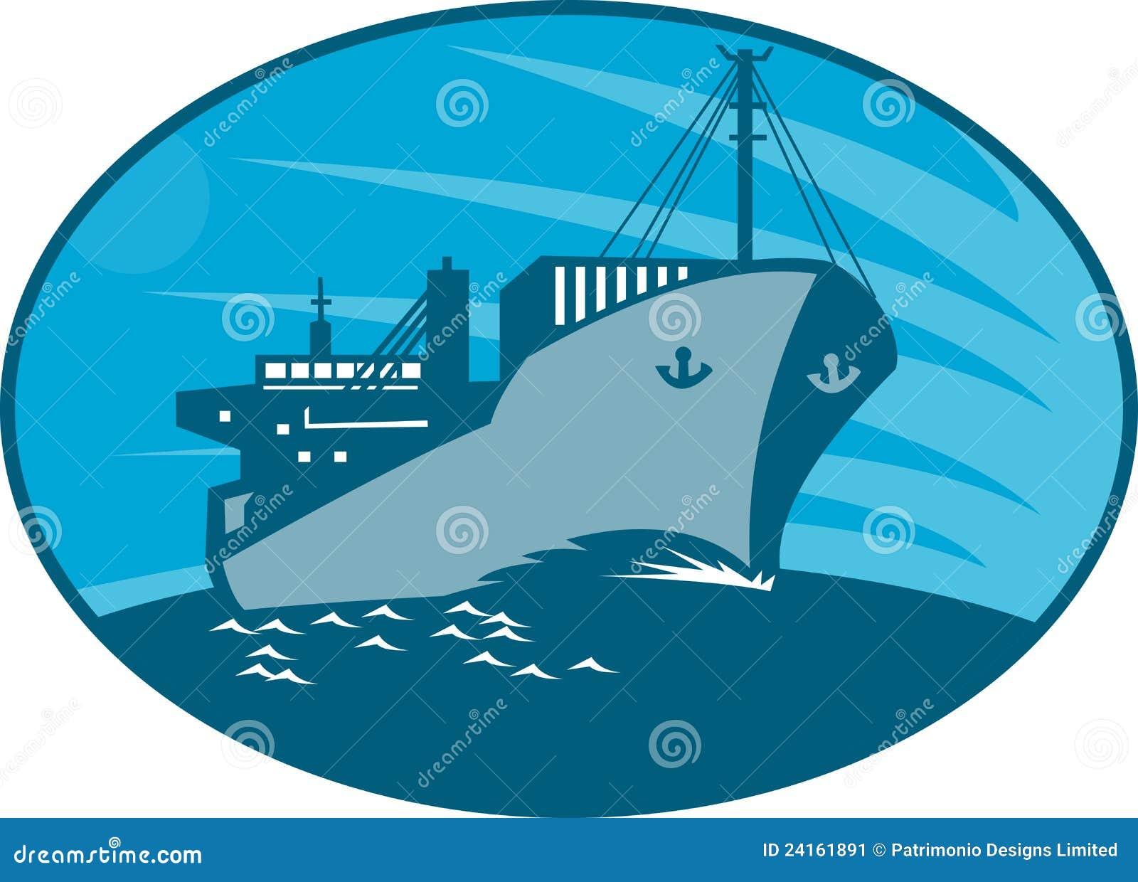 货箱货轮减速火箭的船