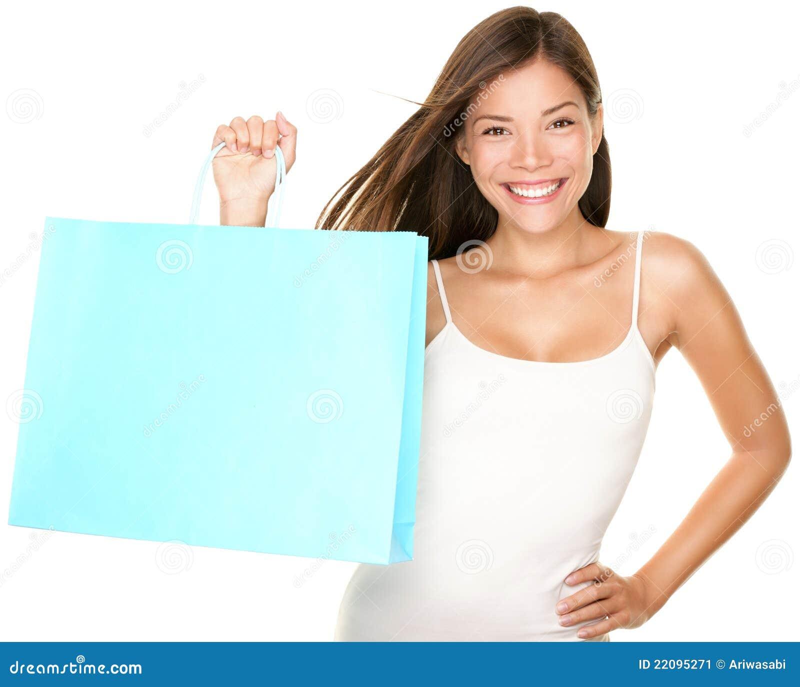 购物袋妇女