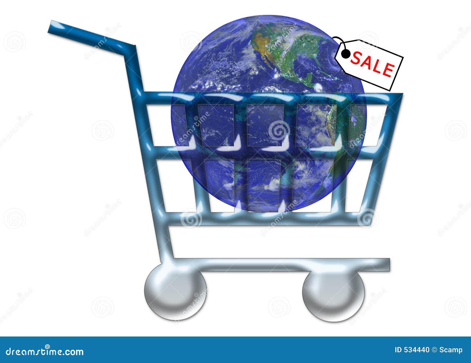 Download 购物车互联网销售额购物万维网 库存例证. 插画 包括有 购物车, 标签, 地球, 概念, 购物, 互联网, 例证 - 534440