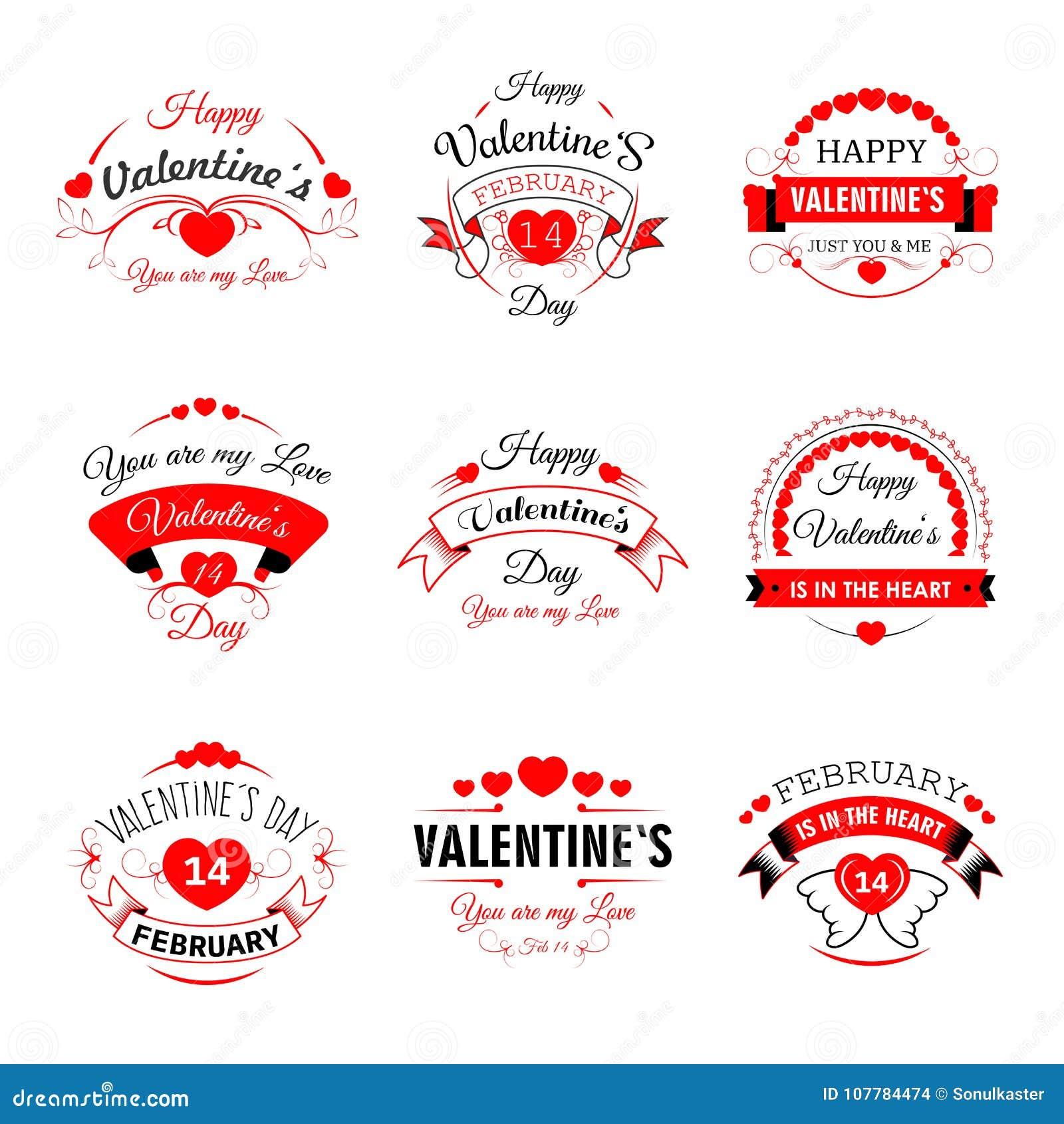 贺卡的愉快的情人节传染媒介心脏华伦泰象设计模板