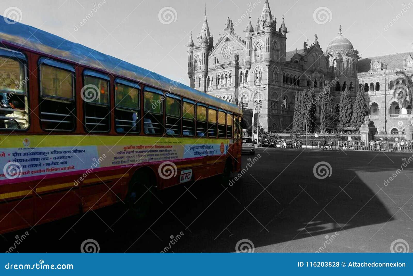 贾特拉帕蒂・希瓦吉终点站CST是联合国科教文组织世界遗产名录站点和一个历史的火车站在孟买,印度
