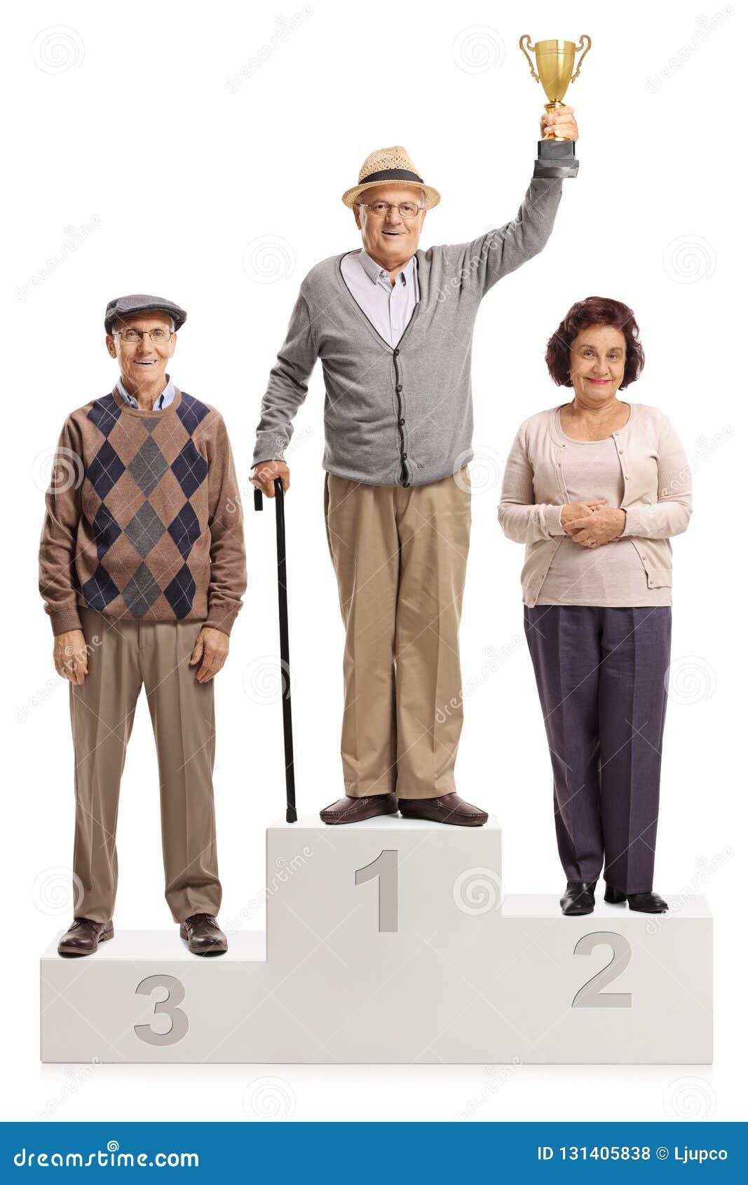 资深人全长画象优胜者的垫座首先第二的和第三名的