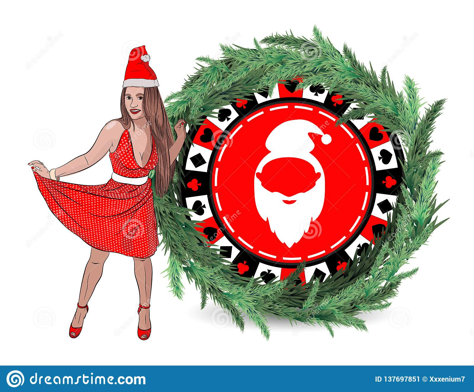 赌博娱乐场新年胜利 克劳斯・圣诞老人妇女