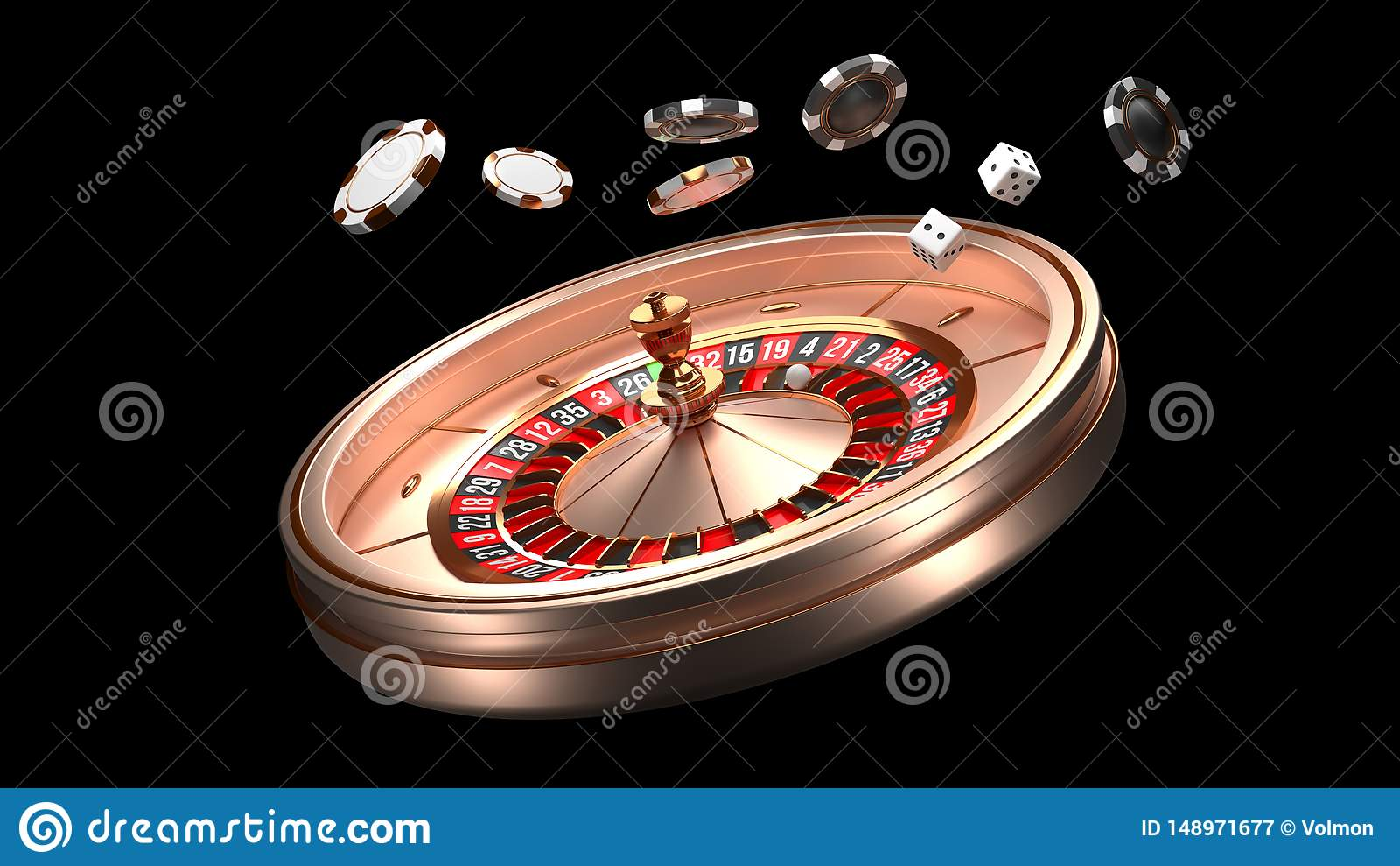 赌博娱乐场背景 在黑背景隔绝的豪华赌博娱乐场轮盘赌的赌轮 赌博娱乐场题材 特写镜头白色赌博娱乐场