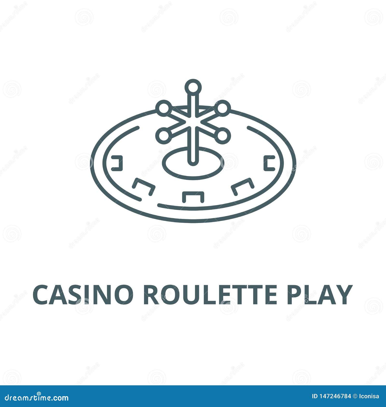 赌博娱乐场轮盘赌戏剧传染媒介线象,线性概念,概述标志,标志