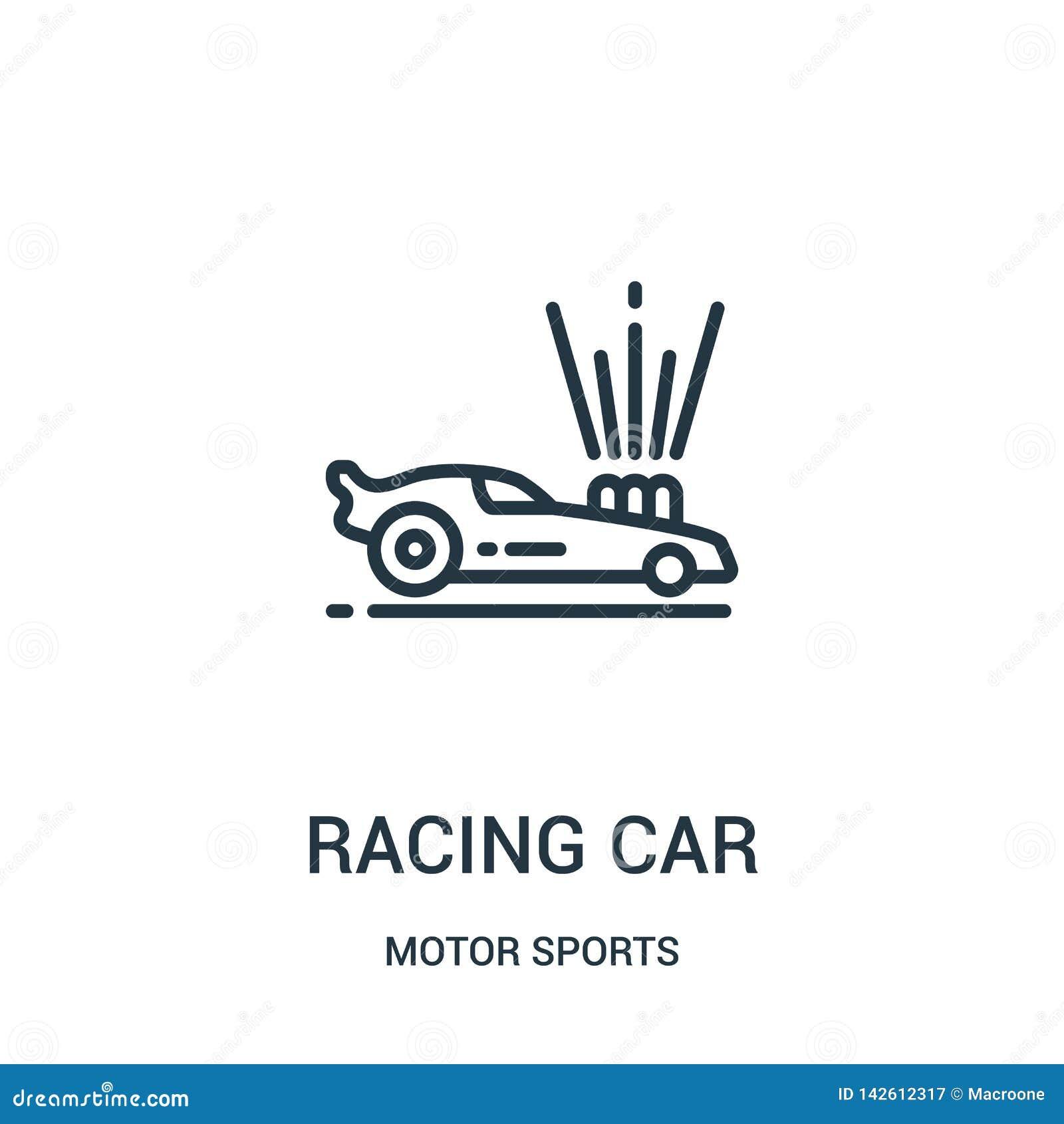 赛车从汽车竞赛汇集的象传染媒介 稀薄的线赛车概述象传染媒介例证 r
