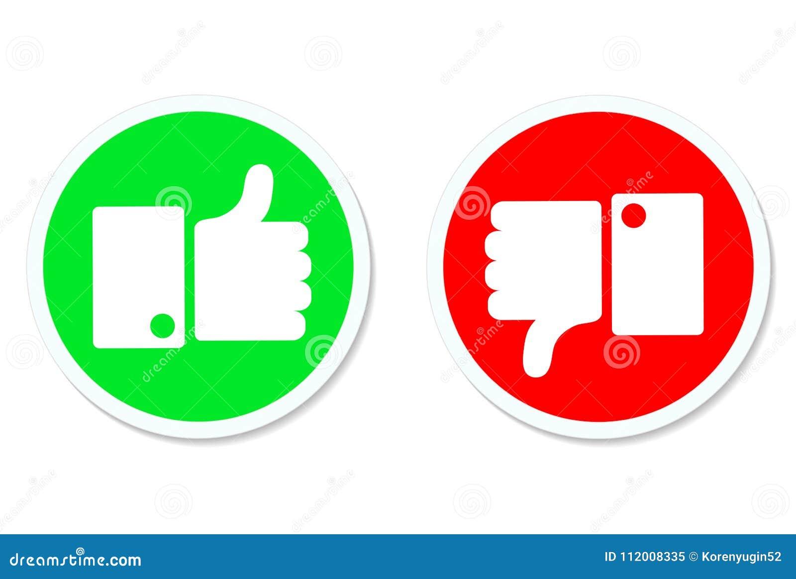 赞许和下来拇指,象和反感按钮,储蓄vecto