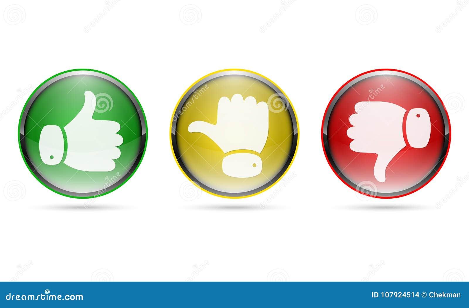 赞许和拇指下来按 也corel凹道例证向量