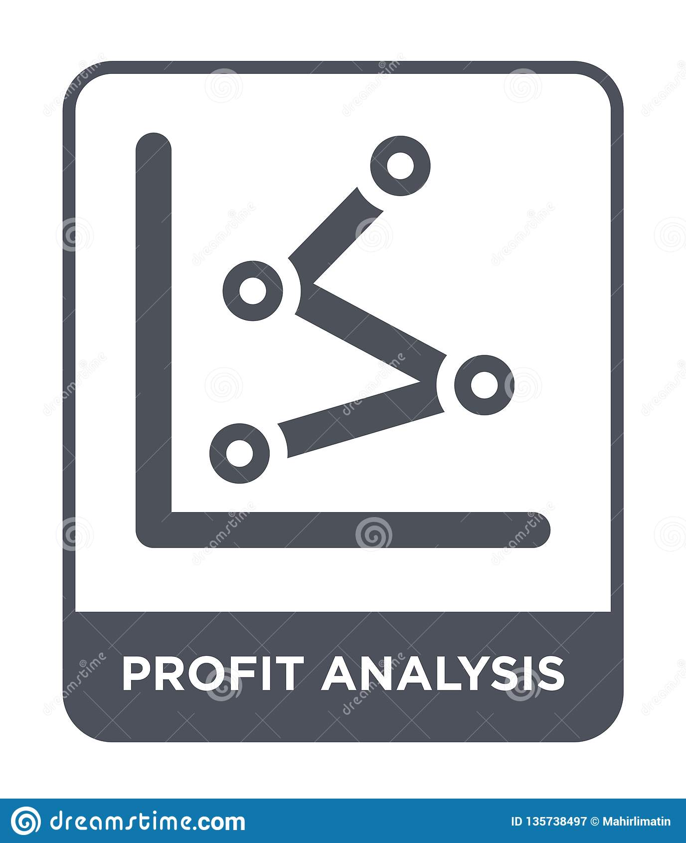 赢利在时髦设计样式的分析象 赢利在白色背景隔绝的分析象 赢利分析简单传染媒介的象