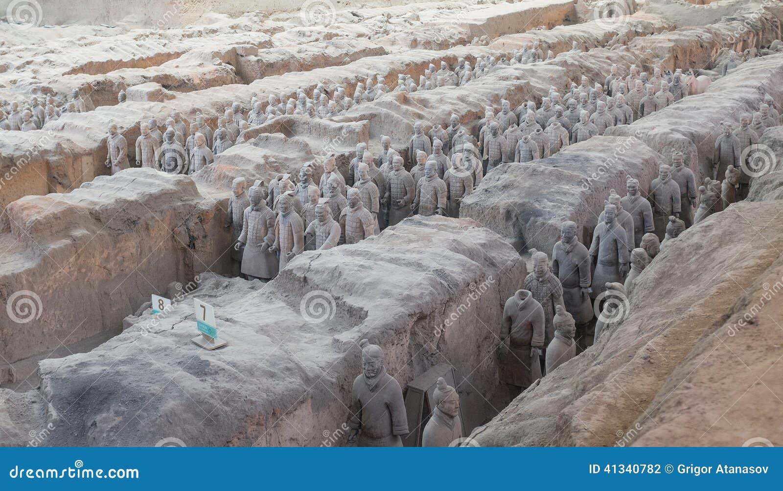 赤土陶器军队在羡,中国