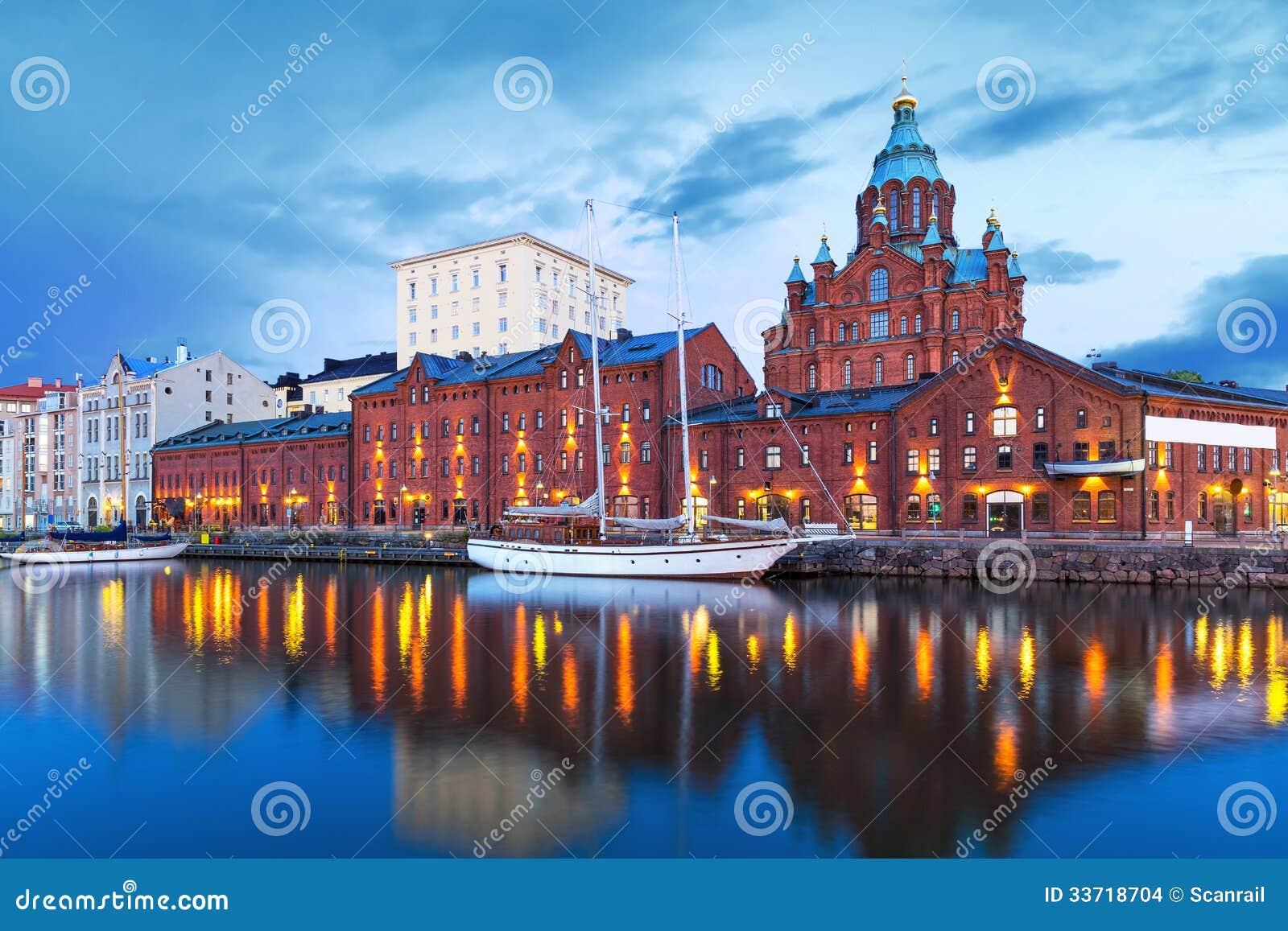 赫尔辛基,芬兰晚上风景