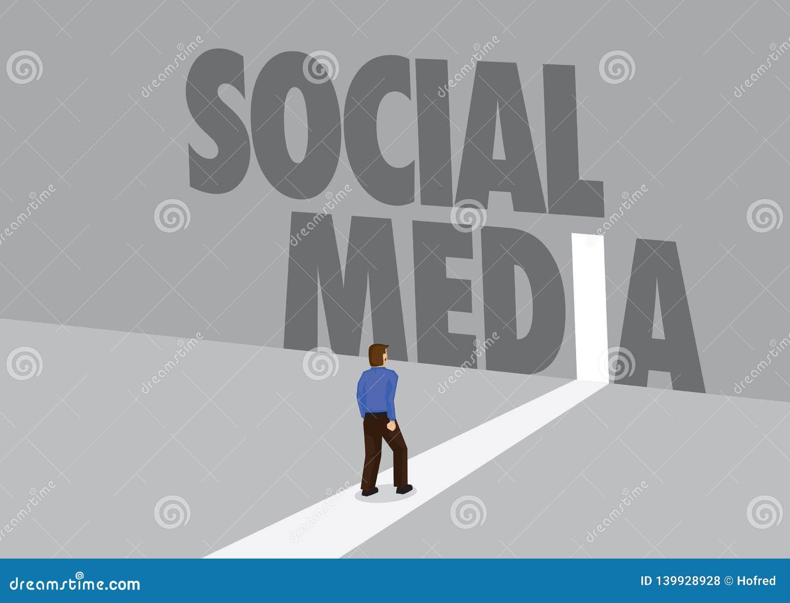 走向有文本社会媒介的一条轻的道路的商人 行销、促进或者挑战的企业概念