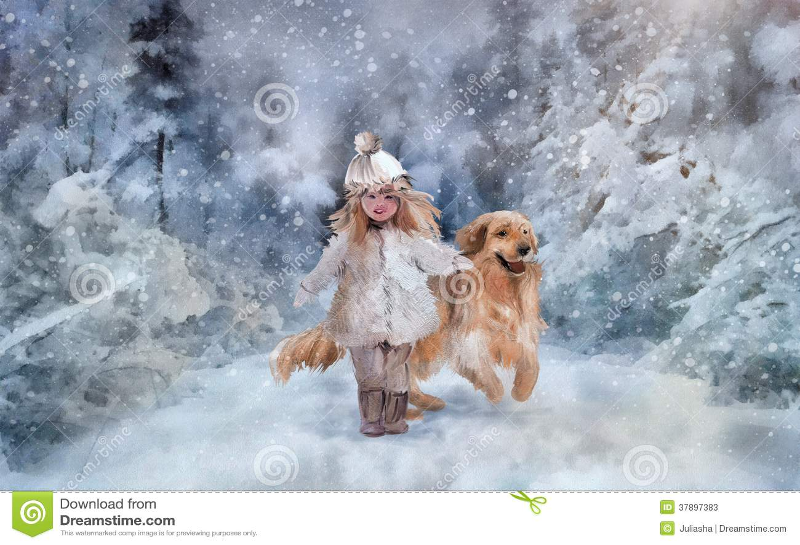 走在冬天公园