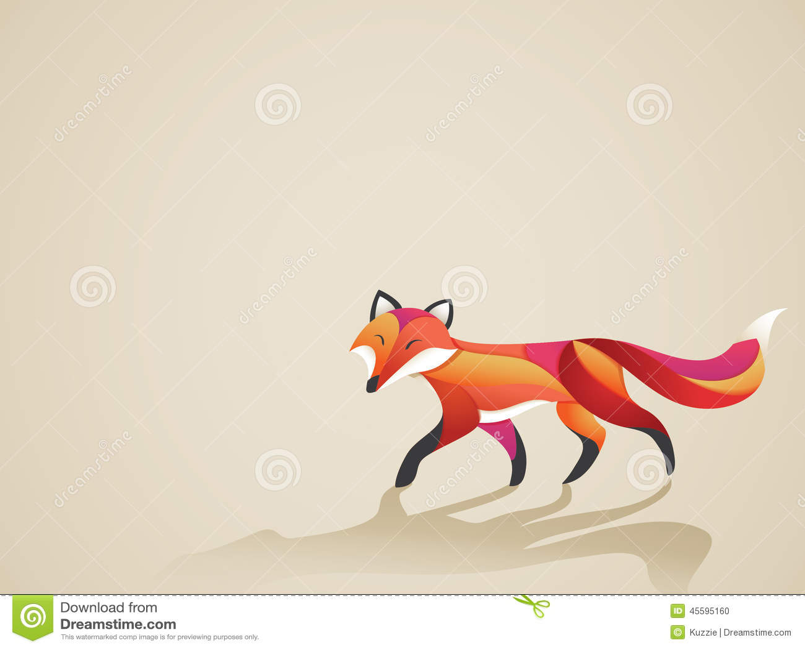 走的充满活力的狐狸