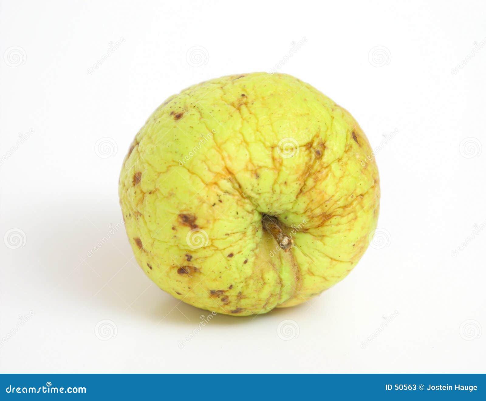 起皱纹的苹果