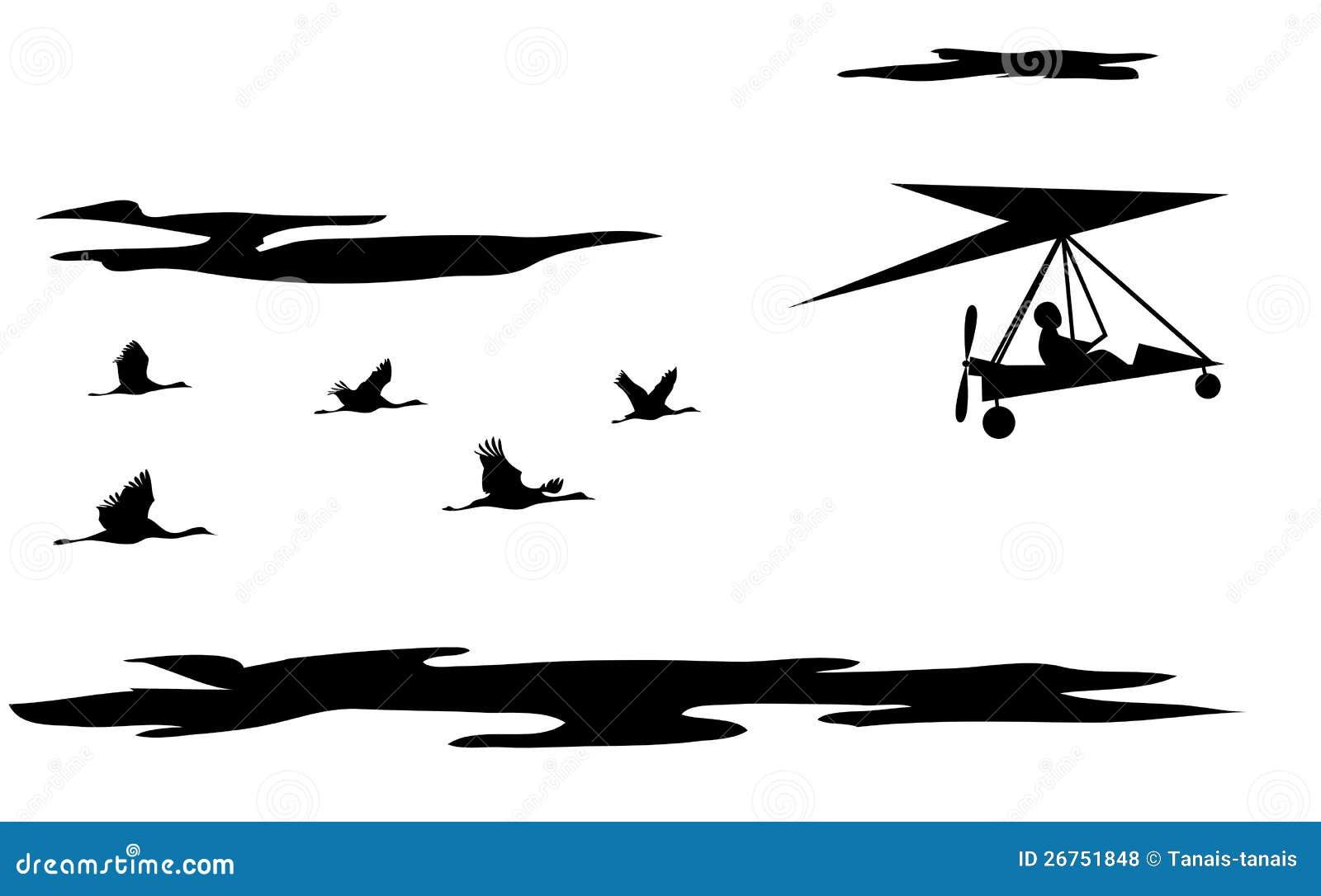 起重机和动力化的悬挂式滑翔机