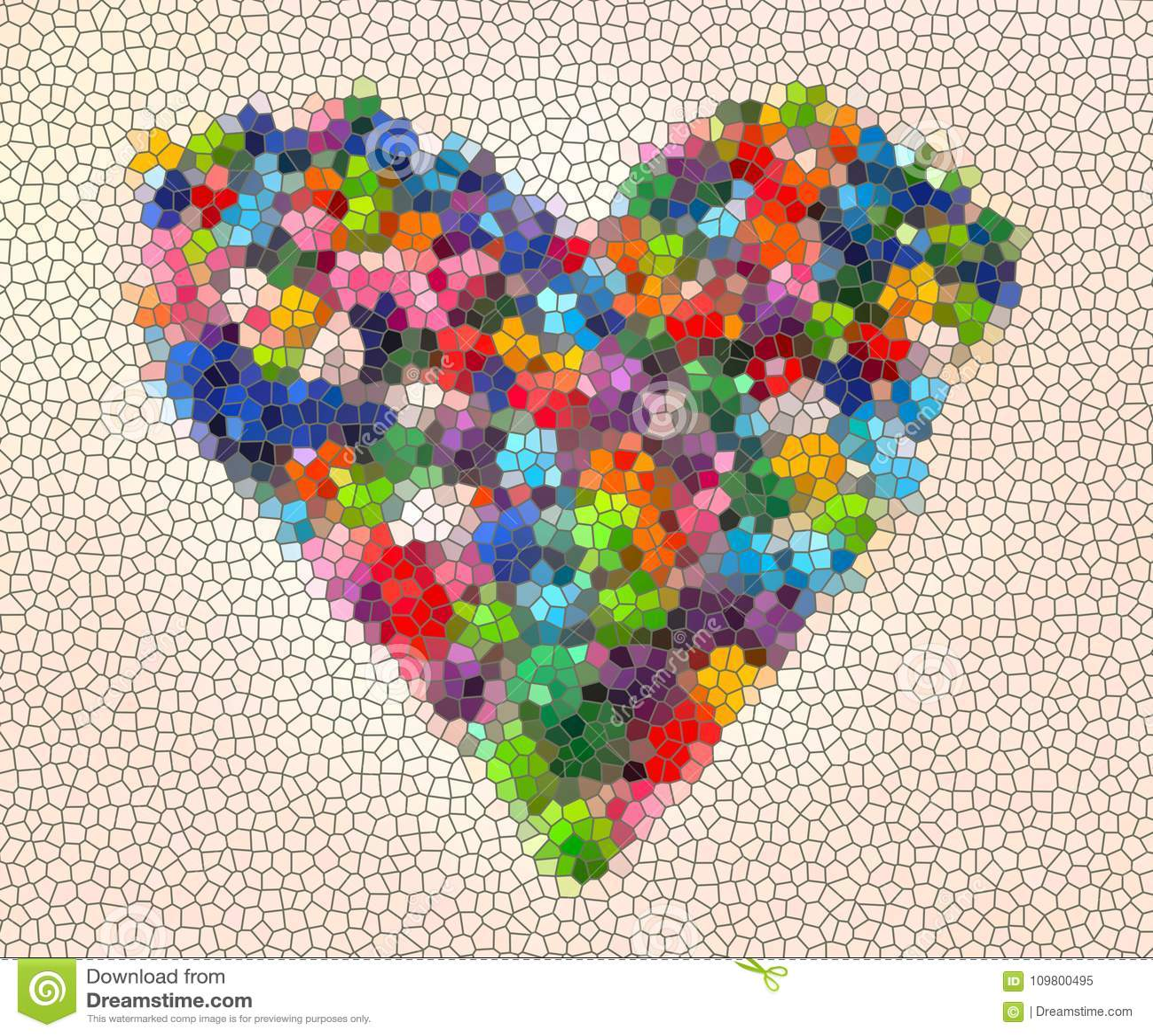 超级五颜六色的心脏的例证