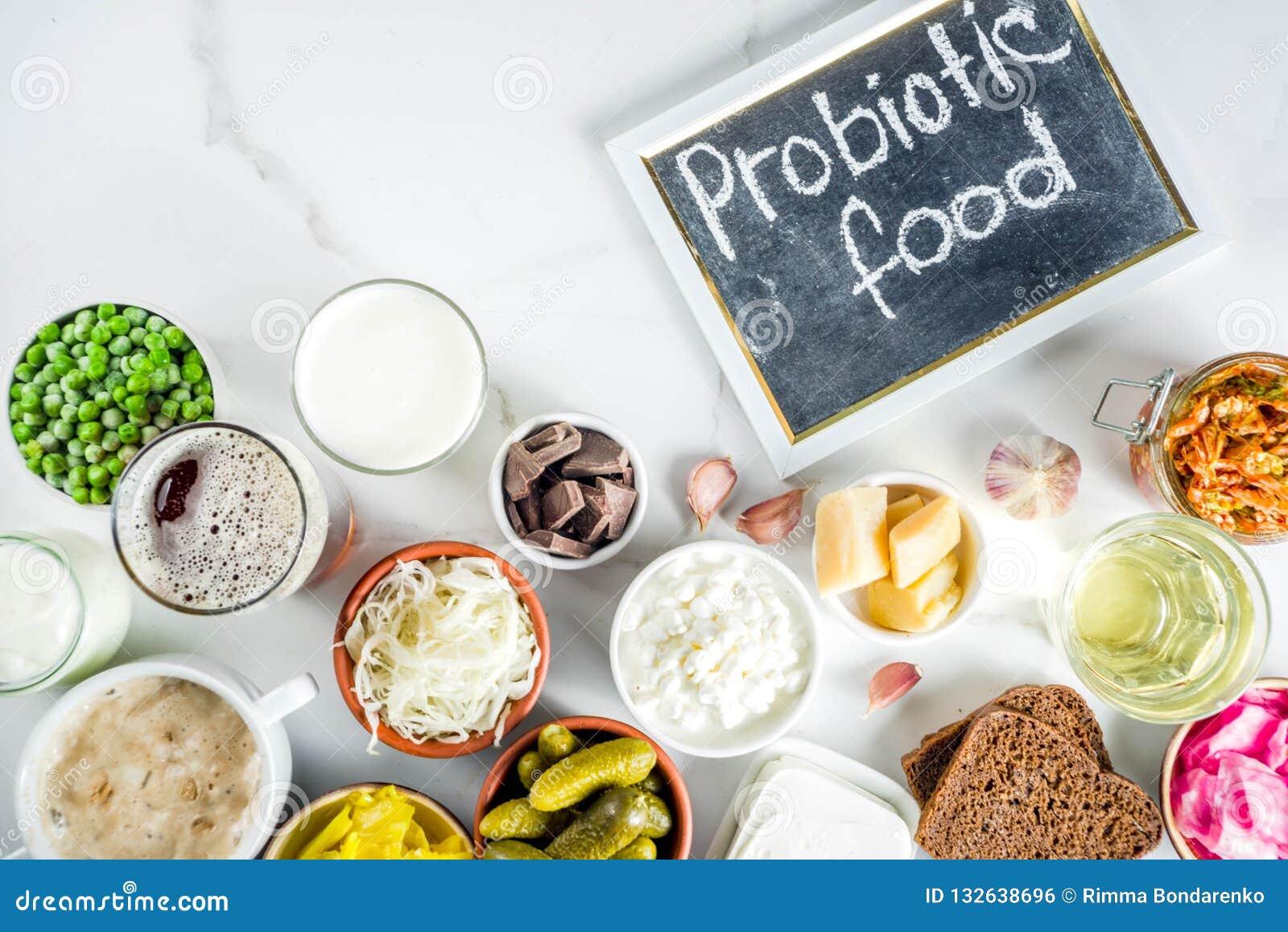 超级健康前生命期的被发酵的食物来源